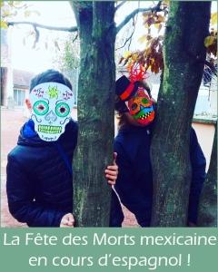 Les 5èmes célèbrent la Fête des Morts mexicaine en cours d'espagnol !