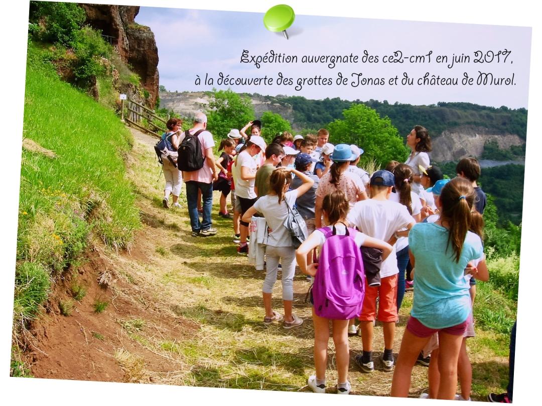 Voyage scolaire des CE2-CM1 en Auvergne en juin 2017.